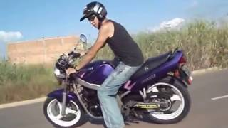 A visão de quem me ve passando GS 500 - Fabião Moto