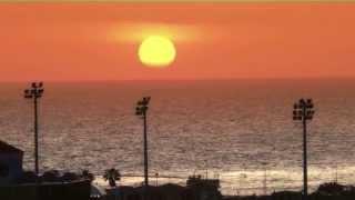 #3459, Sol cayendo en el mar al horizonte en un atardecer [Efectos], Atardeceres, mar y cielos