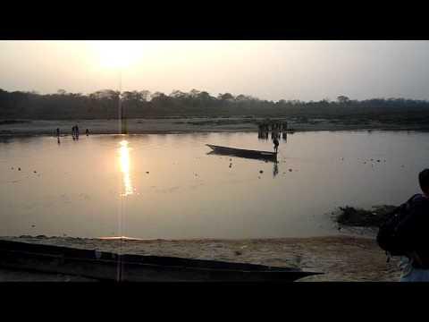 Chitwan-河邊日落01