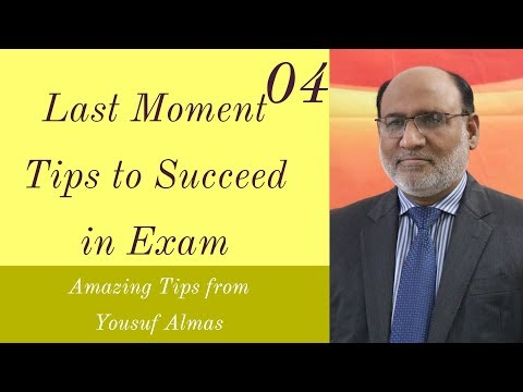 Last Moment Tips to Succeed in Exam