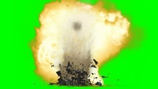 Bomb Ground Explosion Effect green screen with sound