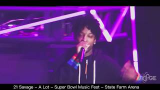 """Days before ICE arrest 21 Savage performs """"a lot"""" @ Super Bowl Music Fest"""