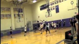 Bard Basketball-Brandon Cunningham Dunk- Practice 10/23/13