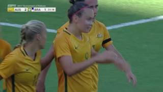 Australia vs. Brazil: Caitlin Foord First Goal - Aug. 3, 2017
