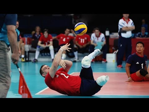 Sitting Volleyball | Amazing Volleyball Actions (HD) - YouTube