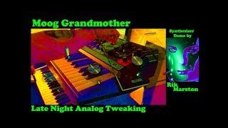 Moog Grandmother Late Night Analog Tweaking Synthesizer Rik Marston