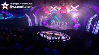 David Walliams joins The Showbears - Britain's Got Talent 2012 Final - UK version