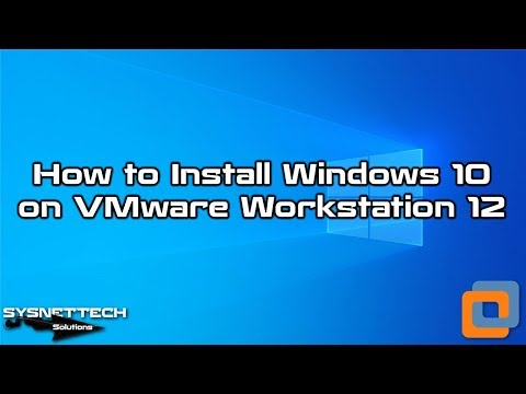 Win10 Setup Video with VMware 12
