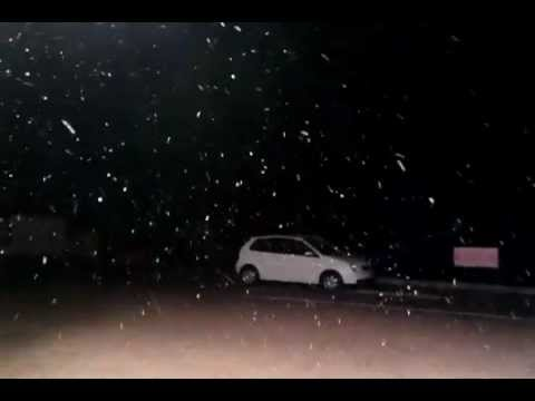 Snow Falling at Nottingham Road, South Africa