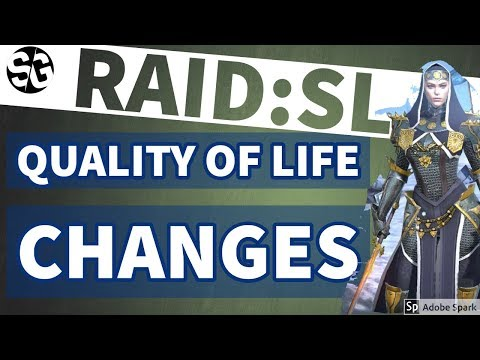 [RAID SHADOW LEGENDS] QUALITY OF LIFE CHANGES AND OTHERS I'D LIKE TO SEE