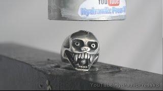 Metal Monkey Skull Vs Hydraulic Press - Saving the Caribbean