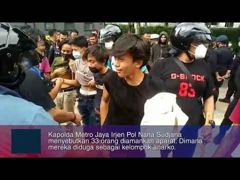 33 Anarko Diamankan Aparat, Begini Situasi Demo Tolak Omnibus Law