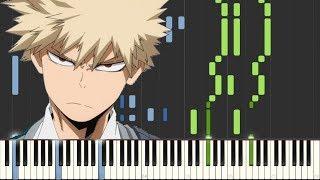 My Hero Academia -  Boku no Hero Academia OST  [Piano Tutorial] (Synthesia) ~ Animenz