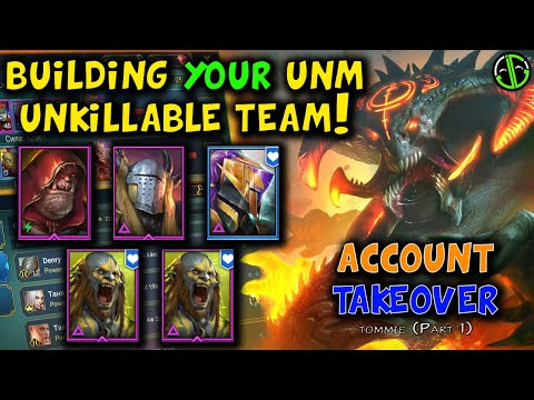 I Build Your Unkillable Clan Boss Team! (Account Takeover - Tommie)