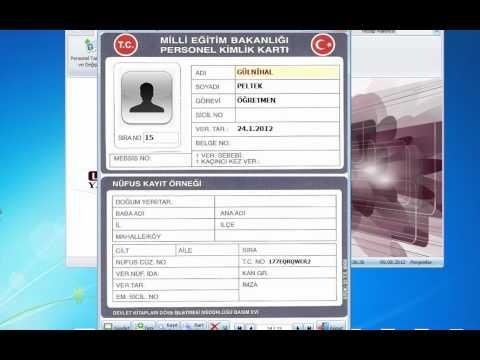 Loft Personel Kimlik Kart Basım Programı