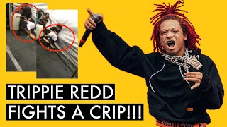 Trippie Red Gets Into Fight With a Crip Backstage At a Festival !