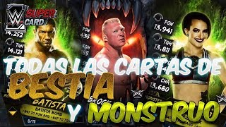 WWE Supercard 4 Temporada: Cartas de Bestia y Monstruo
