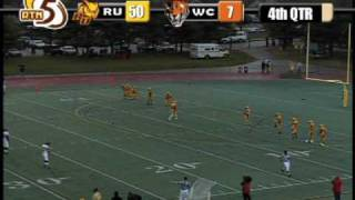 80 yard punt - 85 yard kickoff by Rowan University's Andrew Smith
