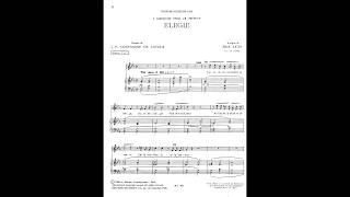 Erik Satie ~1886~ Trois Mélodies : 2. Élégie