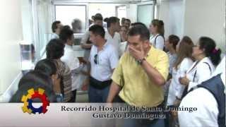 PRESIDENTE CORREA VISITA EL HOSPITAL GUSTAVO DOMINGUEZ