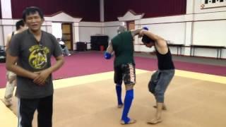 Marrese Crump & Tony Jaa Training ( with Master Panna)