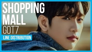 GOT7 - Shopping Mall Line Distribution (Color Coded)
