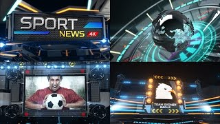 Broadcast Sport News 4K and Full HD After Effect Template
