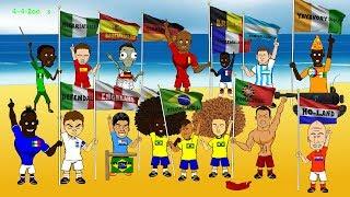 VIDEO. Campionatul Mondial Brazilia 2014. Varianta animata.