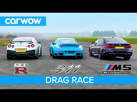 Porsche 997 Turbo VS Nissan GT-R VS BMW M5 Competition