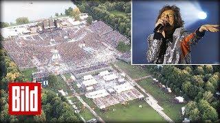 Die Rolling Stones von oben! - Tourauftakt aus der Luft