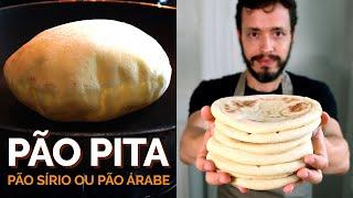 PÃO PITA (Pão Sírio ou Árabe): Receita fácil para assar no forno ou na frigideira