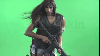 Black Ops Girl   Battlefield   Hot Stock Footage   Greenscreen   Chromakey   Filmmaking