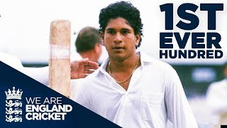Sachin Tendulkar's First EVER hundred At 17 Years Old | England v India 1990 - Highlights