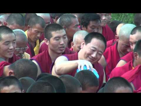 NEPAL BUDDHIST MONKS PRAYER FOR PEACE LUMBINI