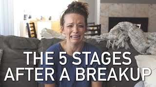 THE 5 STAGES AFTER A BREAKUP width=