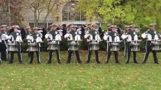 "MSU Drumline playing ""Band Day Beat"" - 10/29/2016"