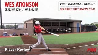 Wes Atkinson PBR Buckeye Elite Baseball Showcase 7/12/17