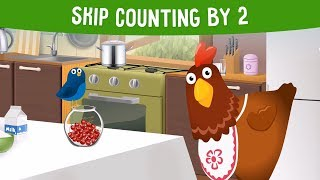 Skip counting by 2 for Preschool and Kindergarten Kids
