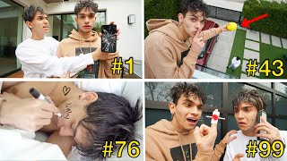 Pranking My Twin Brother 100 TIMES In The SAME DAY!!!