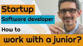 Startup software developer, how to work with a junior?