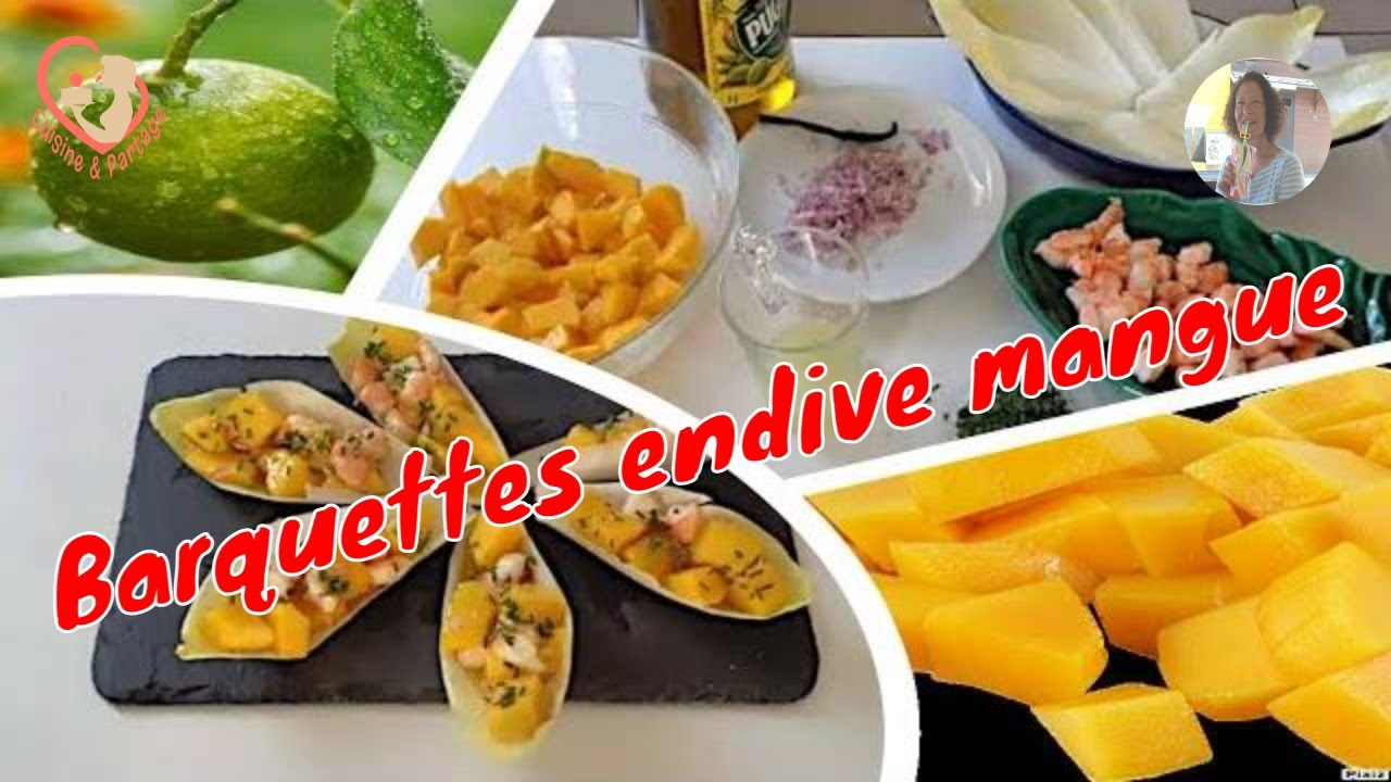 Barquettes endives mangue