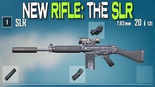 PUBG NEW RIFLE: SLR (all attachments)