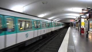 Passage du MF77 n°31085 de la ligne 7 à Porte de Pantin (ligne 5)