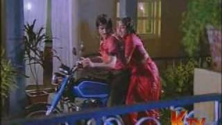 Nalini Hot Rain song in red saree width=