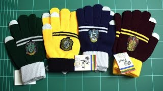 Harry Potter Gloves 4pcs Gryffindor Hufflepuff Ravenclaw Slytherin Review
