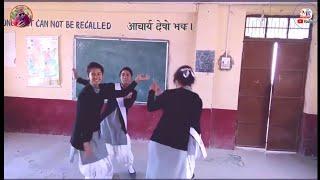 स्कूली लड़कियो का पहाड़ी गाने पर डांस||school girl dance in kumauni song