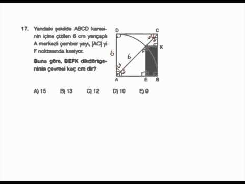 Geometri Soru Çözümleri - Final Dergisi 2012 Türkiye Geneli LYS Denemesi