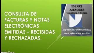 CONSULTA DE FACTURAS ELECTRONICAS
