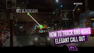 how to track and make Elegant Callout Title -Premiere pro