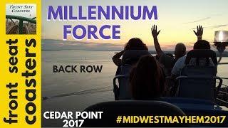 Millennium Force POV HD Cedar Point 2017 Back Seat On-Ride Roller Coaster #FSC_MidwestMayhem2017